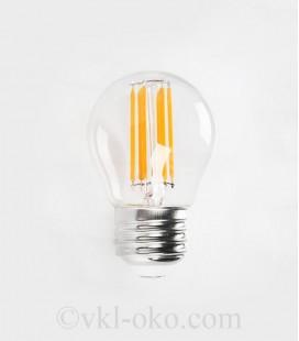 Светодиодная лампа Horoz FILAMENT MINI GLOBE-6 6W Е27