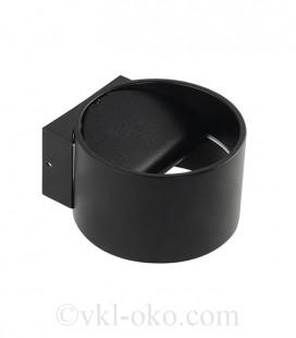 Настенный светодиодный светильник Horoz SISAM 8W черный