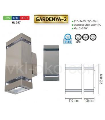 Фасадный светильник GARDENYA-2 GU10 2x35W