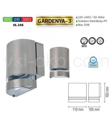 Фасадный светильник GARDENYA-3 GU10 35W