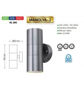 Фасадный уличный светильник MANOLYA-2 GU10 2x35W IP44