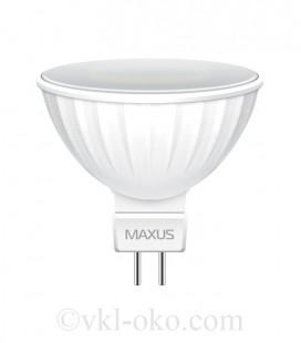 LED лампа MAXUS MR16 3W теплый свет GU5.3 AP