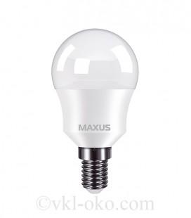 Лампа светодиодная MAXUS 1-LED-749 G45 8W 3000K 220V E14