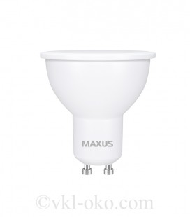 Лампа светодиодная MAXUS 1-LED-717 MR16 5W 3000K 220V GU10