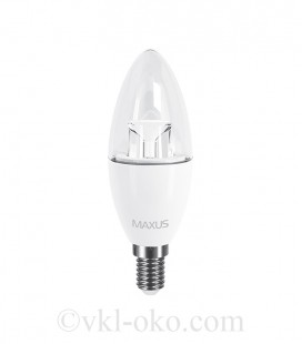 LED лампа MAXUS C37 6W яркий свет E14 (1-LED-532)