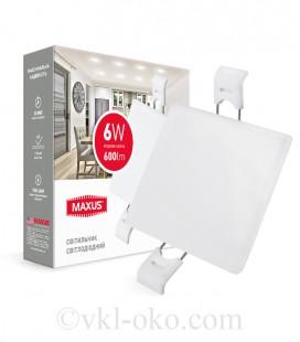 Светильник врезной MAXUS SP edge 6W 4100К (квадрат)