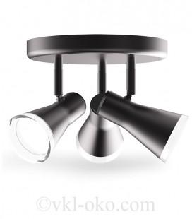 Спотовый светильник MAXUS MSL-02R 3x4W 4100K черный