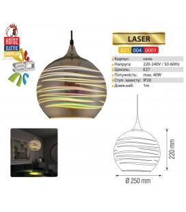 Декоративный светильник 3D эффект LASER E27 шар