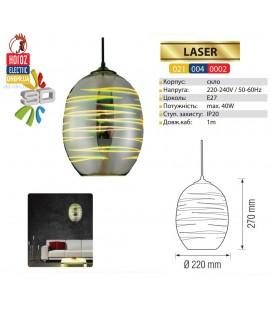 Декоративный светильник 3D эффект LASER E27 овал