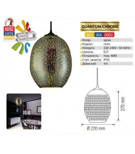 Декоративный подвесной светильник с 3D эффектом QUANTUM E27 овал
