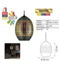 Декоративный светильник 3D эффект RADIAN E27 овал