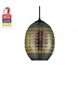 Декоративный подвесной светильник для кухни, гостиной, спальни 3D эффект RADIAN E27 овал от horoz elektrik