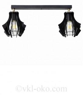 Светильник потолочный Atmolight Bevel L165-450-3 Black