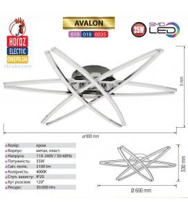 Люстра потолочная LED  35W AVALON купить