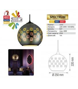Декоративный светильник 3D эффект SPECTRUM E27 шар