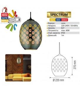 Декоративный светильник 3D эффект SPECTRUM E27 овал