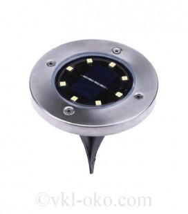 LED светильник в землю на солнечной батарее VARGO 8LED