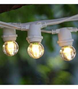 Уличная гирлянда Feron CL50-8 10 ламп Е27 5+3 м. белая купить