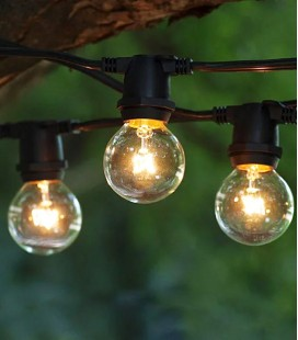 Уличная Ретро гирлянда Feron CL50-8 E27 10 ламп 5 м черная