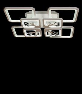 Потолочная LED-люстра с диммером и подсветкой 8157/4+4WH LED 3color 190W