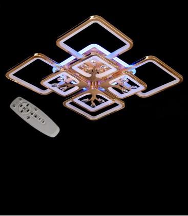 Потолочная LED-люстра с диммером и подсветкой 8157/4+4G LED 3color 190W