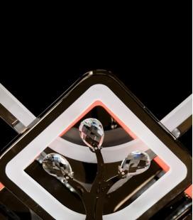 Потолочная LED-люстра с диммером и подсветкой 8157/4+4BHR LED 3color 200W