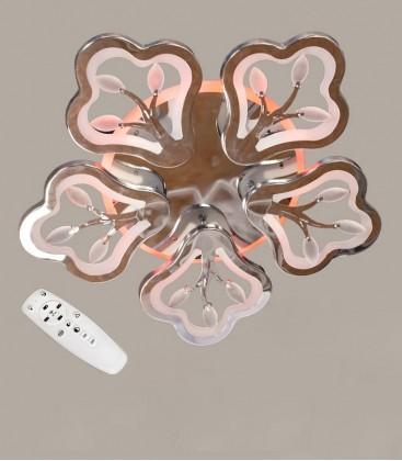 Потолочная LED-люстра с диммером и подсветкой 8149/5HR LED 3color 90W