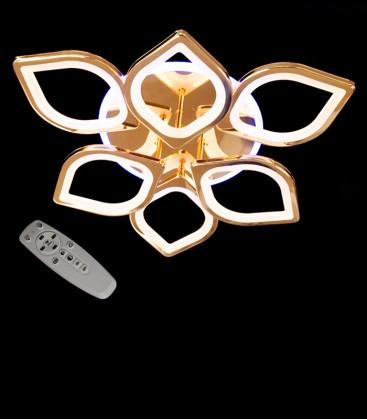 Потолочная LED-люстра с диммером и подсветкой 8149/6+3HR LED 3color 150W