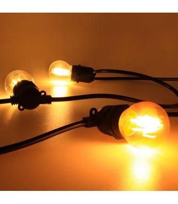 Уличная гирлянда ретро Lemanso 20 ламп Е27 длин. 10 м