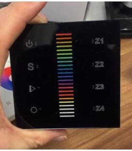 Пульт панель Touch SR-2830-AC RGB 4 зоны, черный корпус