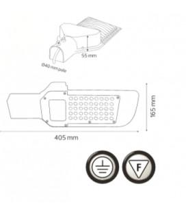 Уличный светодиодный светильник 50W