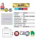 Светильник лестничный RUBY 2W (датчик движения)