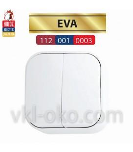 Выключатель белый 2 кл. EVA