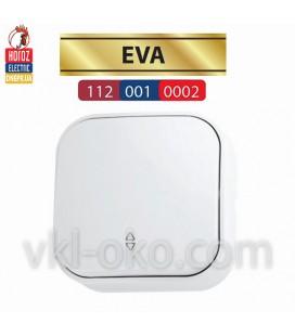 Выключатель белый проходной 1 кл. EVA