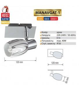 Настенно-потолочный светильник (спот) 1 плафон E14
