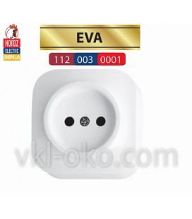 Розетка накладная без заземлением EVA белая