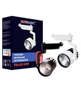 Светильник трековый Ultralight TRL620 20W белый/черный купить