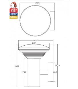 Светильник парковый настенный LED 9W Horoz купить