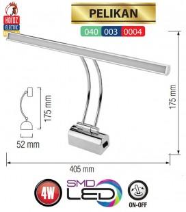Подсветка светодиодная Pelikan 4W  4200K  хром