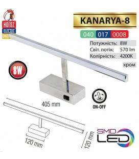Подсветка светодиодная KANARYA 8W 4200K хром