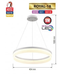 Люстра LED 18W ROYAL (круглая)