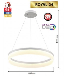 Люстра LED horoz ROYAL 24W HL 861L (круглая)