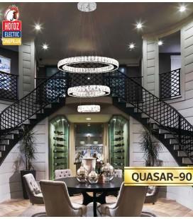 Люстра трехуровневая LED 90W QUASAR-90 (хрусталь) цена Днепр недорого