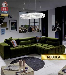 Декоративная светодиодная люстра NEBULA 40W овал купить