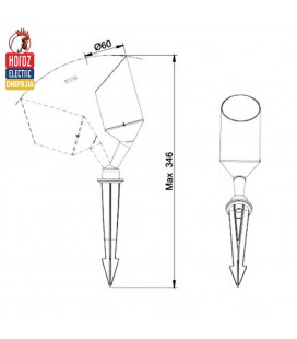 Светильник садово-парковый LED Horoz KUKA-5 IP67 5W купить