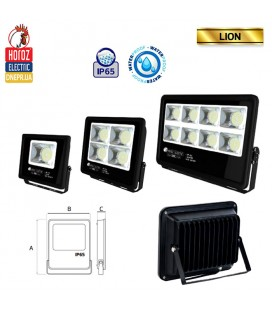 Прожектор светодиодный LED HOROZ LION-50 50W 6400K (холодный белый)