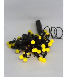 Гирлянда матовый шарик  40 шт 5 м, желтый