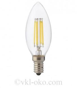 Светодиодная лампа свеча LED Horoz FILAMENT CANDLE 6 6W  E14