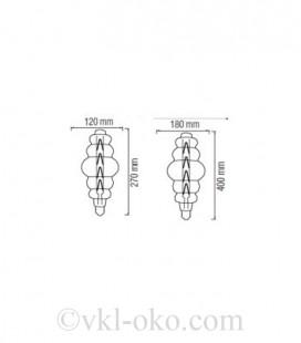 Лампа Filament ORIGAMI Amber 8W E27 2200K