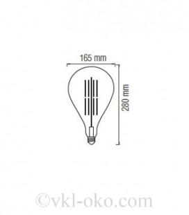 Лампа Filament TOLEDO Amber 8W E27 2200К
